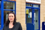 Alicia Kearns Outside Police Station